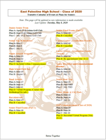 Tentative Senior Calendar of Events (Updated)