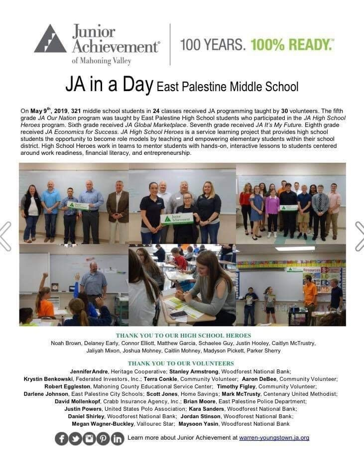 Junior Achievement at East Palestine Middle School